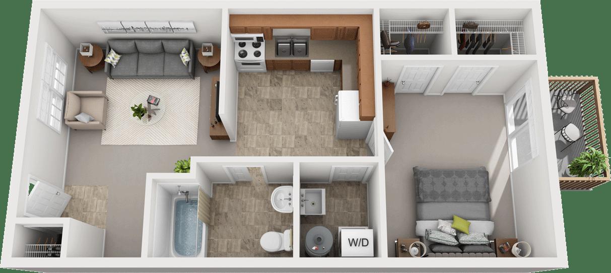 Adams Village – The Limestone Phase I Floor Plan