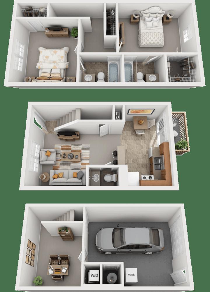 Adams Village – The Quarry Phase II & III Floor Plan