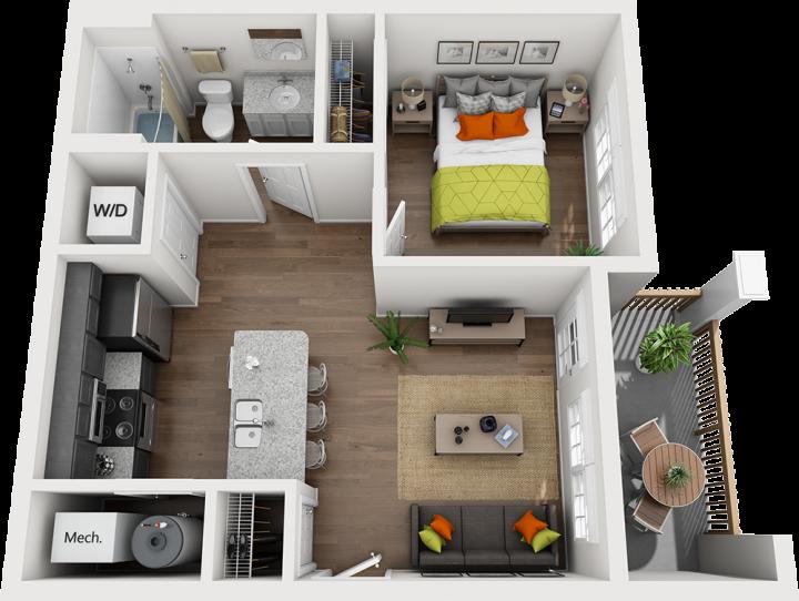 The Cutter floorplan